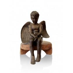 Angel seated