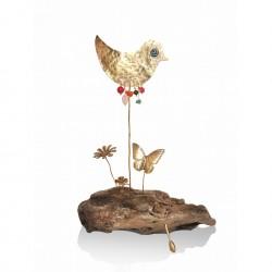 Sea wood - bird - stones