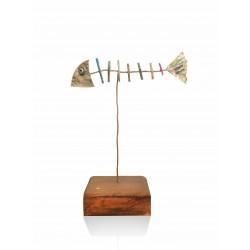 Decorative table - herringbone