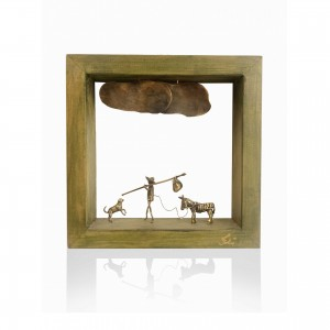 Wooden wall frame with theme - Farmer