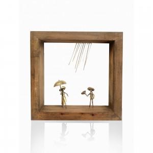 Wall frame with theme - rain Handmade decorations