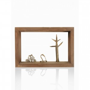 Wooden wall frame with theme - desolation