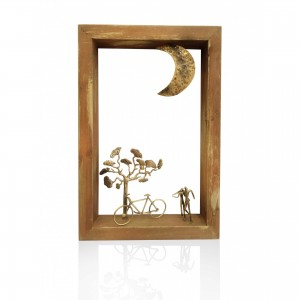 Wall wooden frame on - couple Handmade decorations