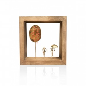 Wall frame with theme - pomegranate Handmade decorations