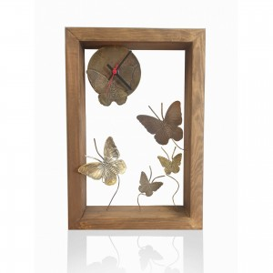 Wooden wall frame with theme - butterflies Handmade decorations
