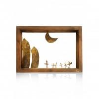 Wall wooden frames