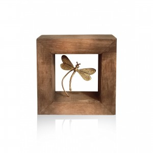 Wall-mounted wooden frame with theme - dragonfly Handmade decorations