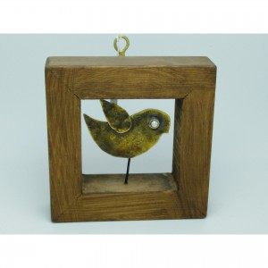 Wall-mounted wooden frame with theme - birds Handmade decorations