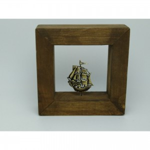 Wall frame with theme - sailboat Handmade decorations