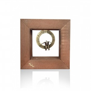 Wall wooden frame with theme - angel wishes