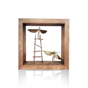 Wall frame with theme - angel couple