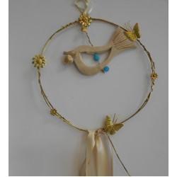 Wreath ceramic dove
