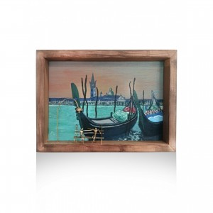 Wall frame painted with theme - Venice Handmade decorations