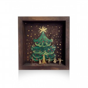 Wooden wall frame with theme - Christmas