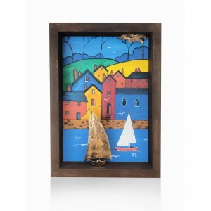 Wall frame painted with the theme - the island