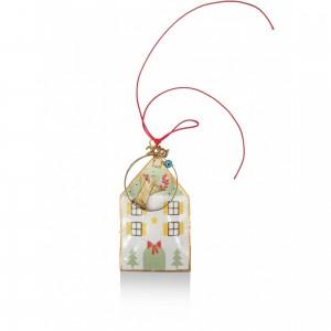 Christmas ornament - colored houses C ' Christmas presents