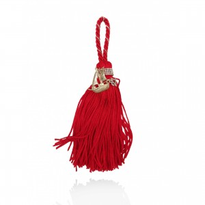 Silver charm with tassel - boat Christmas presents