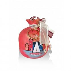 Ceramic pomegranate - charm