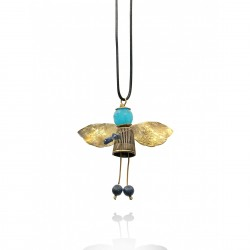 Bee with Chalcedony