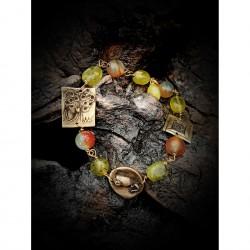 Brass bracelet elements