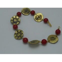 Bracelet brass elements