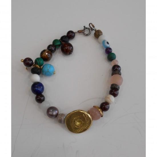 Bronze bracelet eye N1