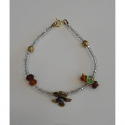 Brass bracelet crystals