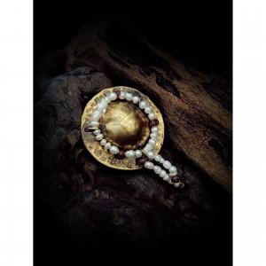 """Women's bronze pin """"hat"""" jewelry"""