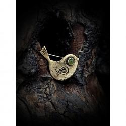 Brass pin - bird