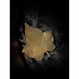 "Women's brooch ""plantain leaf"""