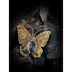 Brass brooch butterfly N2