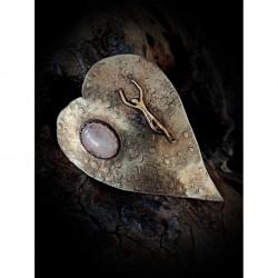 Silver brooch - heart