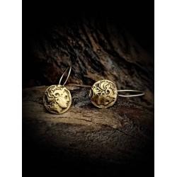 Earrings coin - Alexander