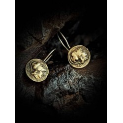 Earrings coin - Athena