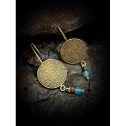Earrings - disc of phaistos