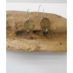 """Brass earrings """"Grama"""""""