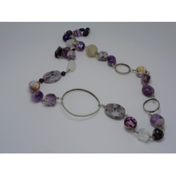 Amethyst - alpaca necklace