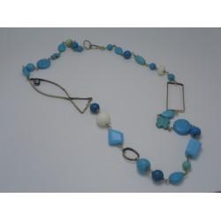 Turquoise - alpaca necklace