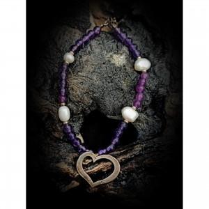 Silver bracelet (925o) (heart) jewelry
