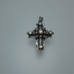 Byzantine cross - silver and gold