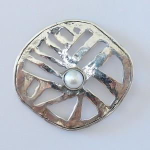"""Silver brooch """"slit"""" jewelry"""