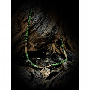 """Sterling silver necklace """"zoosite"""" jewelry"""