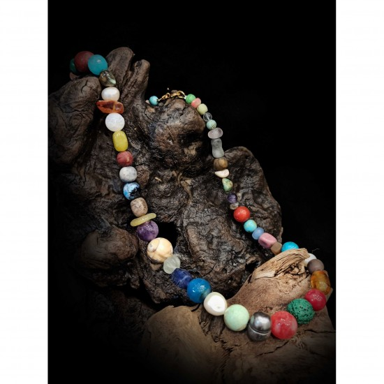 Necklace - colored stones N2