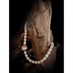 "Women's necklace ""rice pearl"" jewelry"