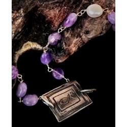 Amethyst necklace N5