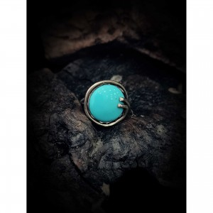 "Silver ring (925o)""turquoise paste"" jewelry"