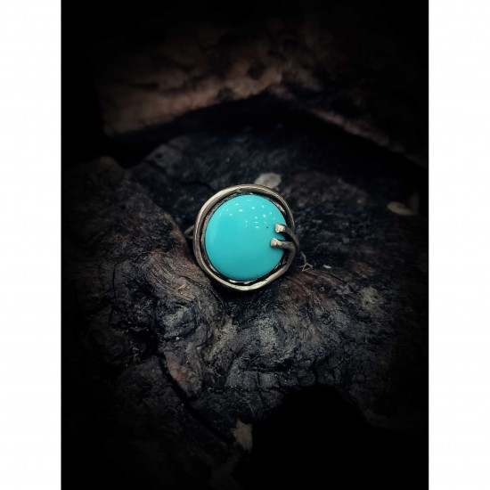 Ring turquoise paste