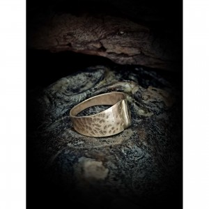 Wrought silver ring jewelry
