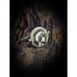 Athena coin ring