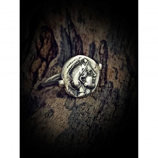 Athena coin ring